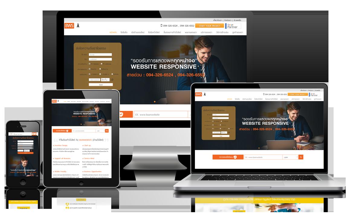 ออกแบบ และจัดทำเว็บไซต์